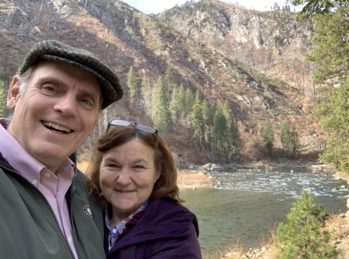 John and Joan near Leavenworth, river in background